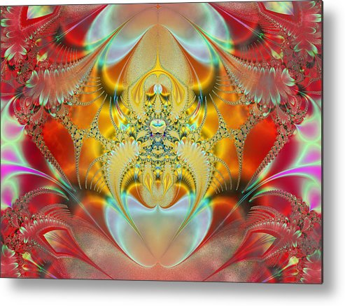 Abstract Metal Print featuring the digital art Sleeping Genie by Ian Mitchell