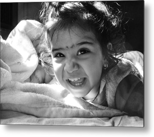 Children Metal Print featuring the photograph Smile by Makarand Purohit