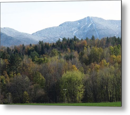 Mountain Metal Print featuring the photograph Smugglers Notch From Cambridge Vermont by Barbara McDevitt