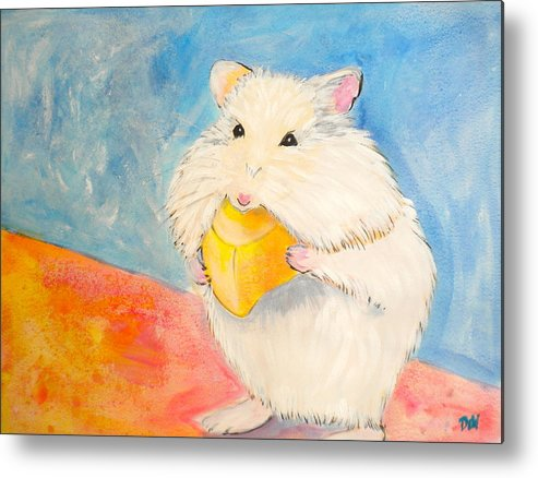 Snack Time Metal Print featuring the painting Snack Time by Debi Starr