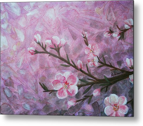 Blossom Metal Print featuring the painting Snow Blossom by Arlissa Vaughn
