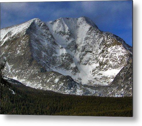 Longs Metal Print featuring the photograph Snow Peaks by David Kehrli