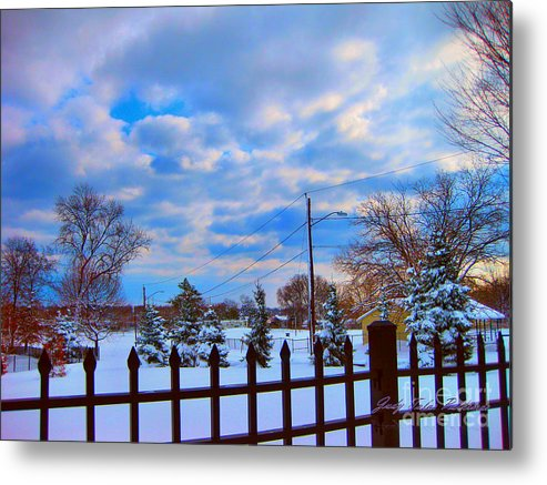 Winter Metal Print featuring the photograph Snowy Day by Judy Palkimas