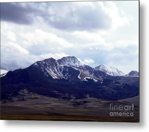 Mountains Metal Print featuring the photograph Snowy Mountains In Spring by Matthew Peek