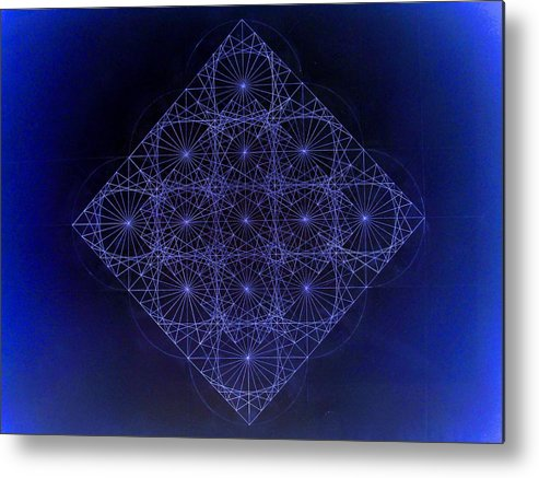 Fractal Metal Print featuring the drawing Space Time Sine Cosine And Tangent Waves by Jason Padgett