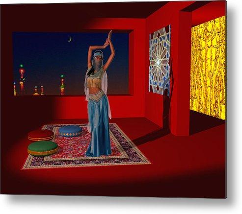 Oriental Metal Print featuring the digital art Spirits Of Arabia by Andreas Thust