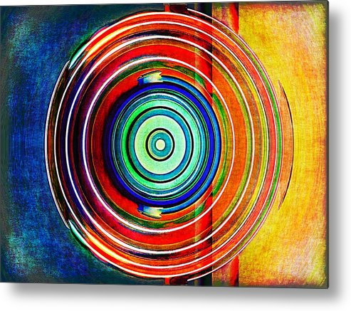 Abstract Metal Print featuring the digital art Spot On by Wendy J St Christopher