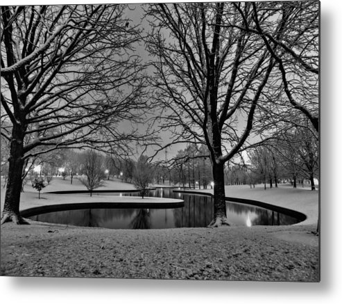 Jefferson National Expansion Memorial Metal Print featuring the photograph St. Louis - Winter At The Arch 001 by Lance Vaughn