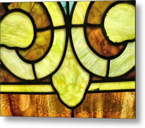 Stained Glass 3 Metal Print featuring the photograph Stained Glass 3 by Tom Druin