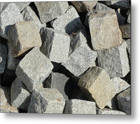 Stones For Paving Metal Print featuring the photograph Stone by Makarand Kapare