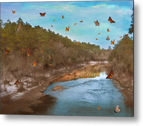River Metal Print featuring the photograph Summer At The River by Judy Hall-Folde