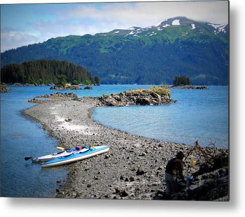 Kayak Alaska Metal Print featuring the photograph Summer In Alaska by Rick and Dorla Harness