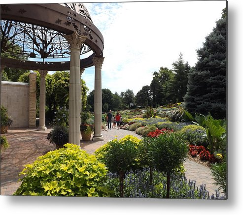 Sunken Garden Metal Print featuring the photograph Sunken Garden Ironworks 2 by Caryl J Bohn