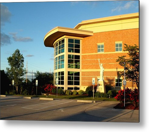 Library Metal Print featuring the photograph Sunlit Library by David Addams