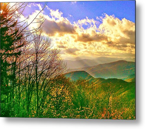 Mnt Landscape Metal Print featuring the photograph Sunray Illumination by Robin Bloom