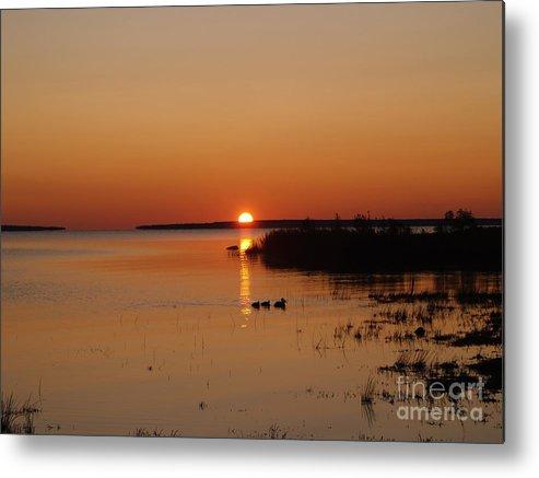 Mackinac Straits Metal Print featuring the photograph Sunrise On Mackinaw by Melissa McDole
