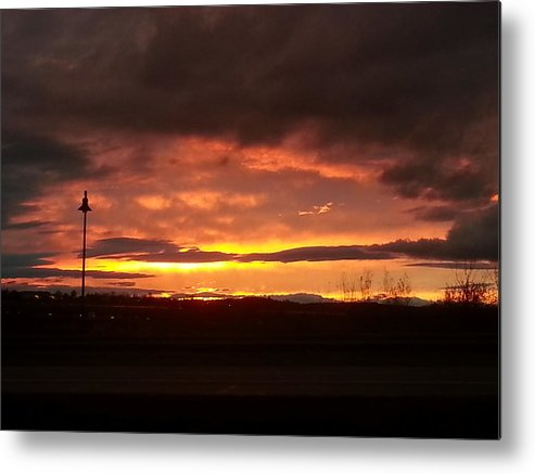 Sunset Metal Print featuring the photograph Sunset At Fore River by Wendy Barrett