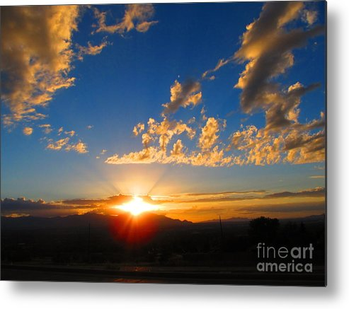 Sunset Metal Print featuring the photograph Sunset In The City by Kimberly Cohne