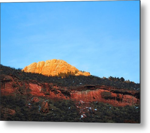 Mountain Sunset Metal Print featuring the photograph Sunset On Horsetooth Mountain by Ric Soulen