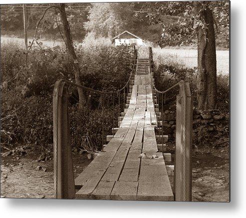 Swinging Bridge Metal Print featuring the photograph Swinging Bridge by David Bearden