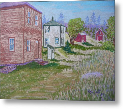 Eastern Points Metal Print featuring the pastel Syds Place Eastern Points Island by Rae Smith PSC