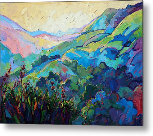 Paso Robles Painting Metal Print featuring the painting Textured Light by Erin Hanson