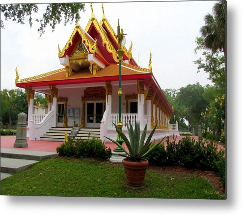 Buddhism Metal Print featuring the photograph Thai Buddhist Temple IIi by Buzz Coe