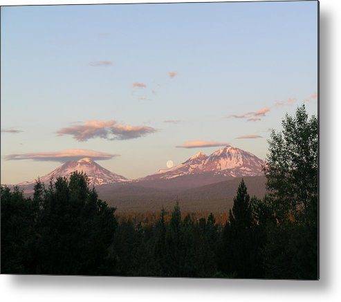 Moon Metal Print featuring the painting The Best Moon by Jennifer Lake