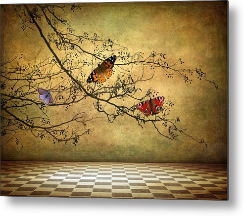 Fantasy Metal Print featuring the photograph The Butterfly Room by Jessica Jenney