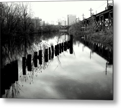 Landscape Metal Print featuring the photograph The Canal by Mickey Murphy