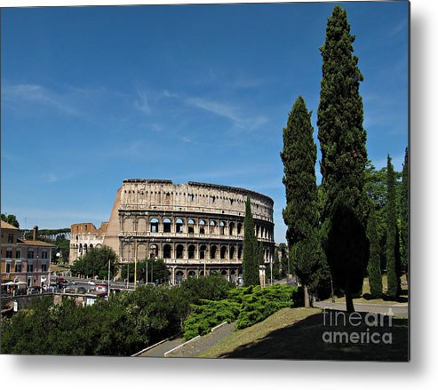 Rome Metal Print featuring the photograph The Colosseum In Rome by Kiril Stanchev