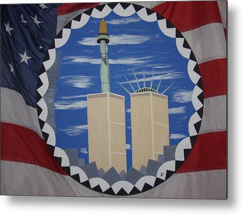 Patriotic Metal Print featuring the painting The Day Before by Dean Stephens
