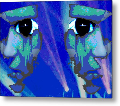 Nature Metal Print featuring the digital art The Duality Of Man by Jimi Bush
