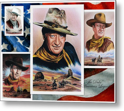 John Wayne Metal Print featuring the painting The Duke American Legend by Andrew Read