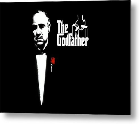 The Godfather Poster Metal Print featuring the digital art The Godfather by Cool Canvas