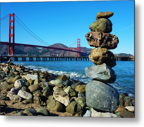 Photography Metal Print featuring the photograph The Golden Gate Rock Pile by Fabien White