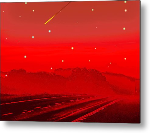 Digital Art Metal Print featuring the digital art The Great Escape by Wendy J St Christopher