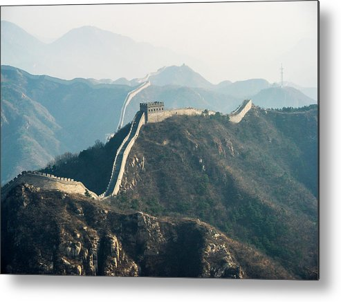 China Metal Print featuring the photograph The Great Wall by David Mortenson