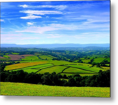 Wales Metal Print featuring the photograph The Green Green Grass Of Home by Andrew Read