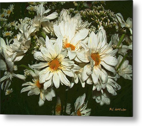Bouquet Metal Print featuring the painting The Infinite Shades Of White by RC DeWinter