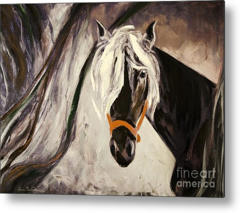 Horses Metal Print featuring the painting The Performer by Gina De Gorna