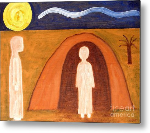 Easter Metal Print featuring the painting The Raising Of Lazarus by Patrick J Murphy
