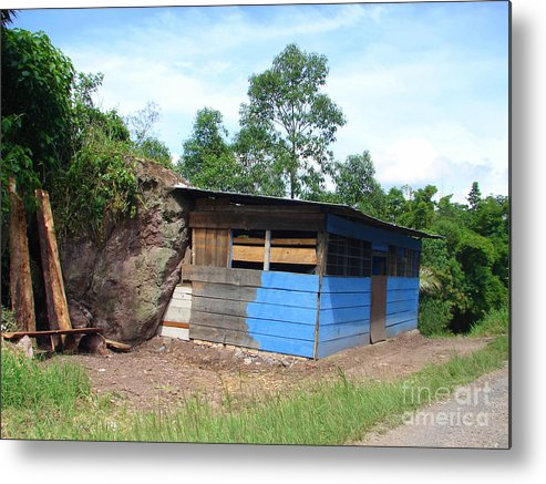 House Metal Print featuring the photograph The Rock House by Lew Davis
