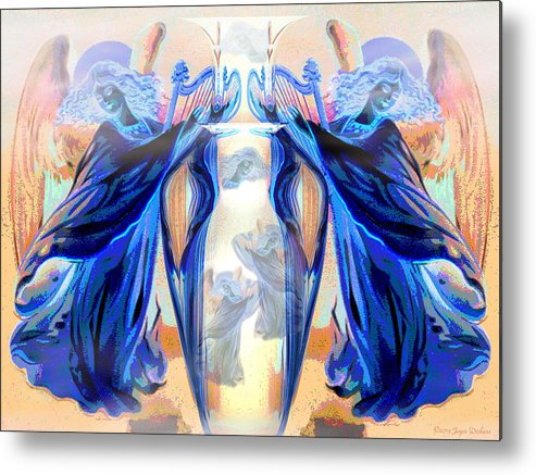 Angels Metal Print featuring the digital art The Sounds Of Angels by Joyce Dickens