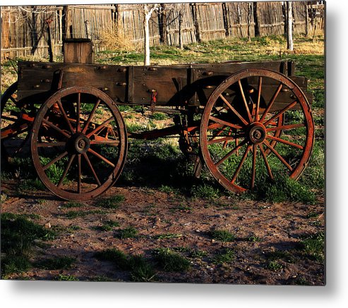 Hubbell Trading Post Metal Print featuring the photograph The Wagon by Kenan Sipilovic