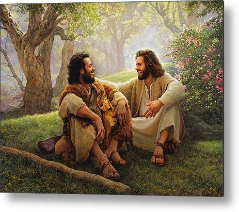 Jesus Metal Print featuring the painting The Way Of Joy by Greg Olsen