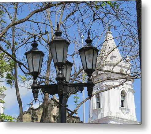 City Of Panama Cathedral Metal Print featuring the photograph The White Of A Lady by Vladimir Berrio Lemm