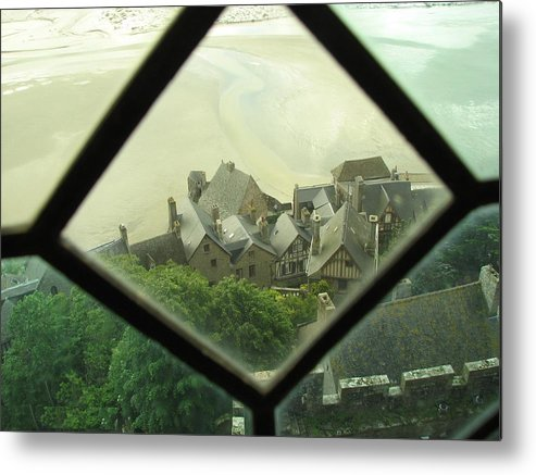 Le Mont St-michel Metal Print featuring the photograph Through A Window To The Past by Mary Ellen Mueller Legault