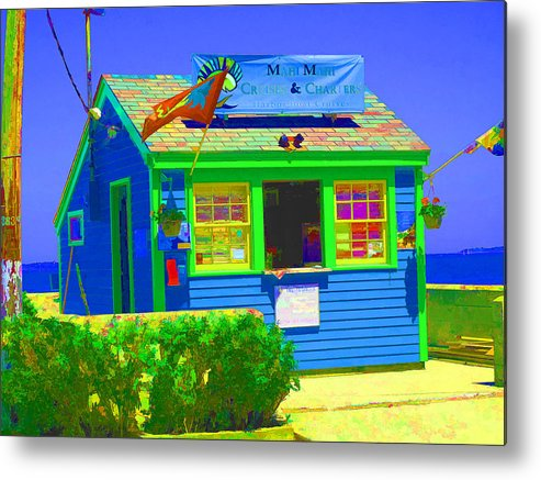 salem Willows Metal Print featuring the photograph Ticket Shack by Barbara McDevitt