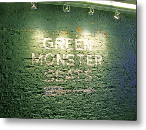 Sign Metal Print featuring the photograph To The Green Monster Seats by Barbara McDevitt